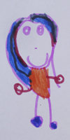 Drawing by a child of the MECSH Intervention Trial aged 4 years