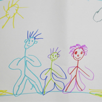Drawing by a child of the MECSH Trial aged 4 years